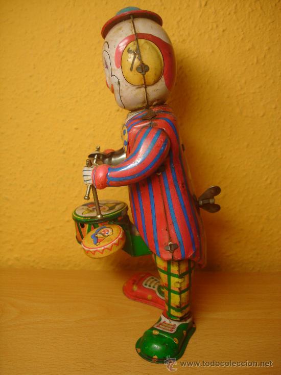STOBOK Mesa Payaso Juguete Hojalata Enrollar Figura Juguete Tamborileo Payaso Mu/ñeca Figura Decorativa Juguete Regalo para Ni/ños Ni/ños Oficina en Casa