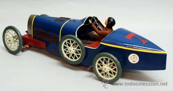 Juguetes antiguos de hojalata: Bugatti de Paya reedicion serie limitada a 100 unidades para la Expo de 1992 nº 86 - Foto 2 - 35860177