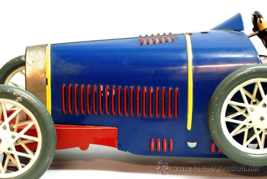 Juguetes antiguos de hojalata: Bugatti de Paya reedicion serie limitada a 100 unidades para la Expo de 1992 nº 86 - Foto 5 - 35860177