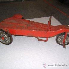 Juguetes antiguos de hojalata: TRICICLO O PATINETE. Lote 35973681
