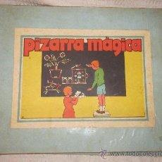 Juguetes antiguos de hojalata: PIZARRA MÁGICA,FABRICADA POR METALING´S,ESPAÑA,CAJA ORIGINAL,AÑO 1938(GUERRA CIVIL). Lote 36256319