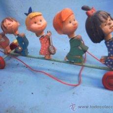 Juguetes antiguos de hojalata: CLEO - FAMILIA TELERIN - VAMOS A LA CAMA -- CORREPASILLOS -. Lote 36258189