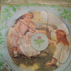 Juguetes antiguos de hojalata: ANTIGUO JUEGO INFANTIL FINALES SIGLO XIX . ORIGINAL. Lote 36417440