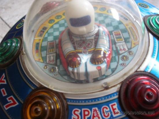 Juguetes antiguos de hojalata: MODERN TOYS. JAPAN. SPACE SHIP X-7. ORIGINAL DE EPOCA. FUNCIONANDO MOTOR Y LUCES. - Foto 6 - 36854436