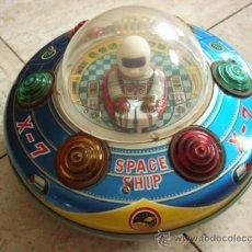 Juguetes antiguos de hojalata: MODERN TOYS. JAPAN. SPACE SHIP X-7. ORIGINAL DE EPOCA. FUNCIONANDO MOTOR Y LUCES.. Lote 36854436