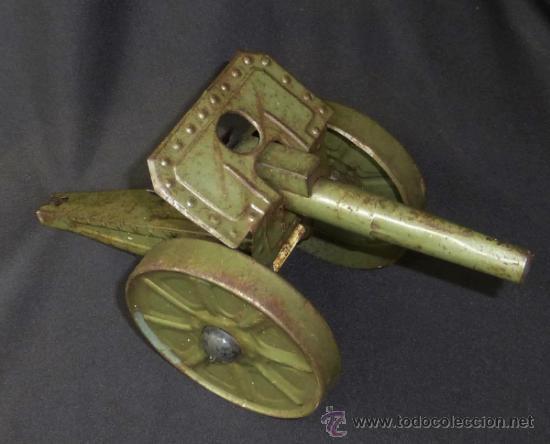 Juguetes antiguos de hojalata: CAÑON HOJALATA AÑOS 30/40 - Foto 3 - 37179804