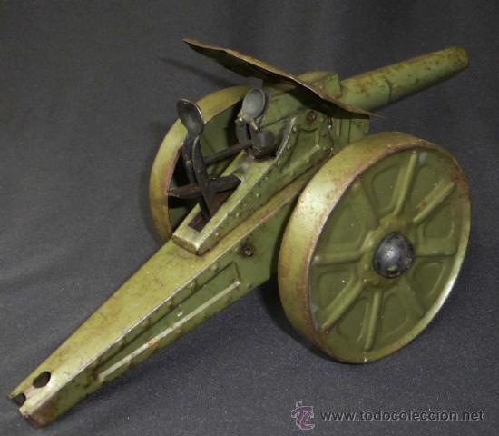 Juguetes antiguos de hojalata: CAÑON HOJALATA AÑOS 30/40 - Foto 4 - 37179804