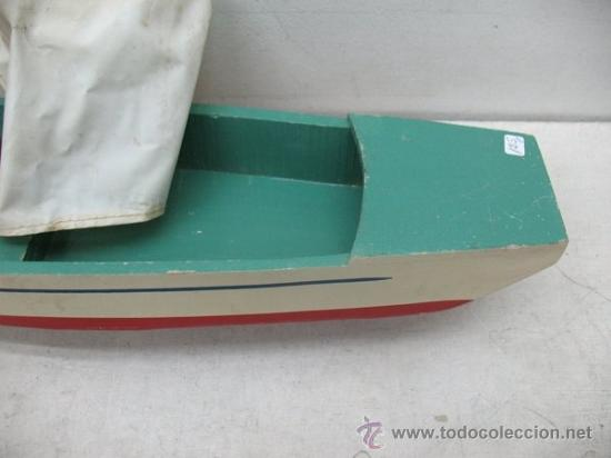 Juguetes antiguos de hojalata: Denia - Antiguo Barco o velero de madera - Foto 5 - 37307875