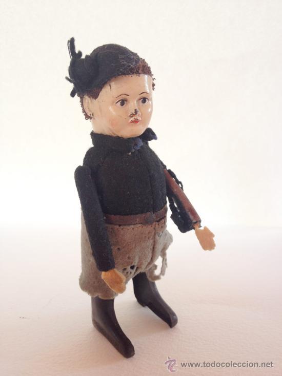 Juguetes antiguos de hojalata: SCHUCO PATENT MADE GERMANY, Excepcional Juguete Alemán original Años 20. Preciosa figura de niño (6 - Foto 3 - 57340512