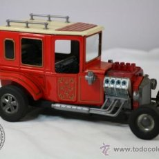 Juguetes antiguos de hojalata: ANTIGUO COCHE VINTAGE DE LATA ALPS TOYS - FORD T - DRAGSTER - MADE IN JAPAN -. Lote 140277298