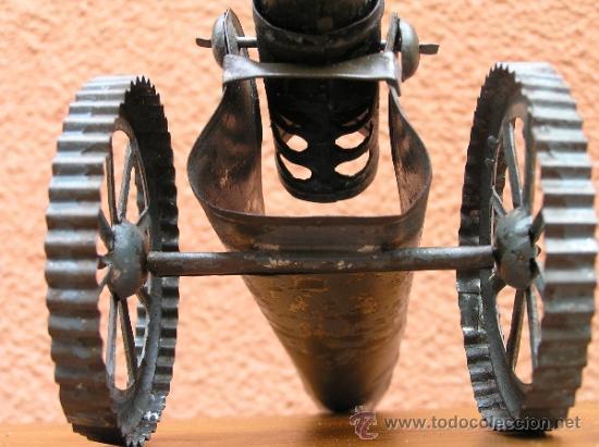 Juguetes antiguos de hojalata: CAÑÓN DE JUGUETE . Alrededor de 1900. Pieza de coleccionista. - Foto 6 - 37976009