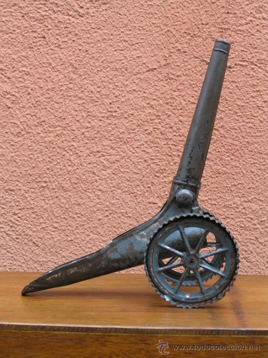 Juguetes antiguos de hojalata: CAÑÓN DE JUGUETE . Alrededor de 1900. Pieza de coleccionista. - Foto 19 - 37976009