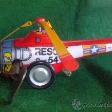 Juguetes antiguos de hojalata: HELICOPTERO RESCUE S-54 DE HOJALATA. Lote 38838920