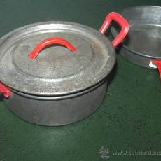 Juguetes antiguos de hojalata - CACHARRITOS de HOJALATA, de cocina. - 38447568