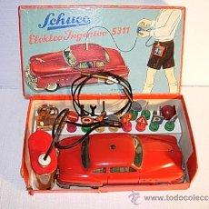 Juguetes antiguos de hojalata: COCHE SCHUCO ELEKTRO INGENICO 5311 CON ACESSORIOS Y CAJA ORIGINAL - AÑOS 50 - PIEZA DE COLECCIONISTA. Lote 38773052