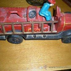 Brinquedos antigos de folha-de-Flandres: CAMIÓN DE BOMBEROS DE FUNDICIÓN. Lote 39189332