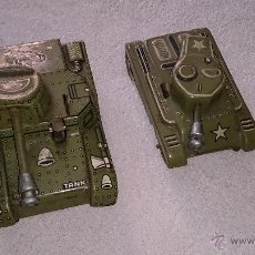 Juguetes antiguos de hojalata: 2 TANQUES DE GAMA MADE IN WESTERN ZONE GERMANY. Lote 165005196