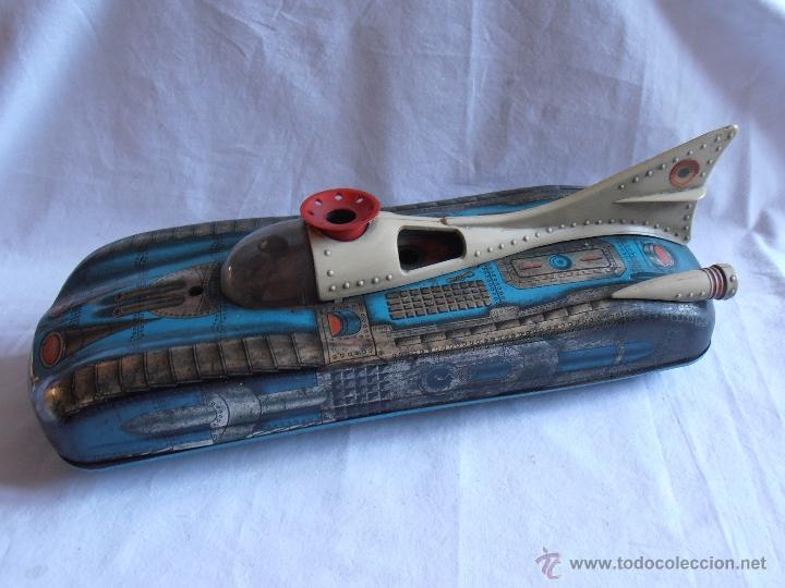 Juguetes antiguos de hojalata: VEHICULO LUNAR ESPACIAL HOJALATA MARCA PERION - Foto 2 - 39649814