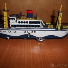 Juguetes antiguos de hojalata - Barco de hojalata. - 40058670