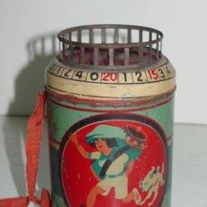 Juguetes antiguos de hojalata: ANTIGUA BARQUILLERA INFANTIL (JUGUETE RICO Nº 357 DEL CATALOGO) DE HOJALATA LITOGRAFIADA - MIDE 12 C. Lote 38267037