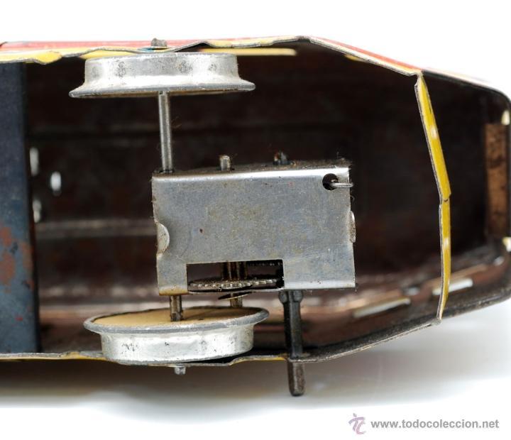 Juguetes antiguos de hojalata: Tranvia hojalata de Jyesa años 40 - Foto 6 - 222738825