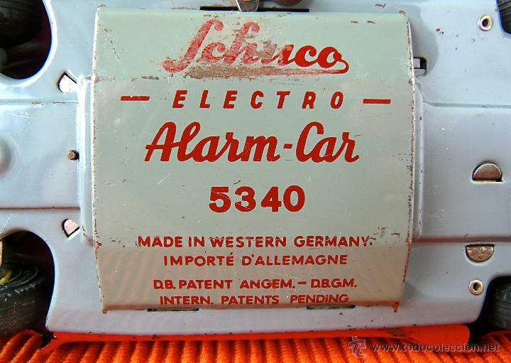 Juguetes antiguos de hojalata: SCHUCO ELECTRO ALARM - CAR 5340 - Foto 8 - 40462711
