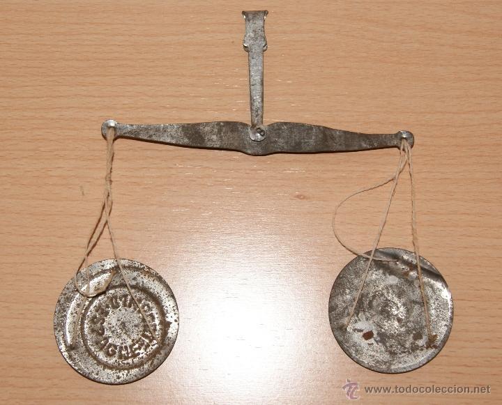 Juguetes antiguos de hojalata: Antigua Balanza de hojalata IMPORTE ESPAGNE Año 1930 - Foto 5 - 40827965