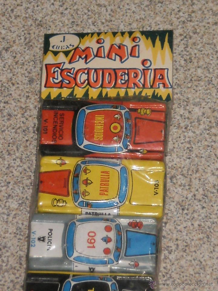 Juguetes antiguos de hojalata: BLISTER CON 6 COCHES EN HOJALATA- MINI ESCUDERIA - J.CUBAS ( MADE IN SPAIN ) AÑOS 70 . - Foto 2 - 108407008
