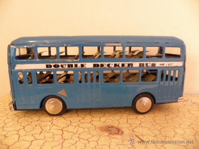 Juguetes antiguos de hojalata: Autobus de hojalata - Double decker bus - MF185 - Foto 2 - 41380384