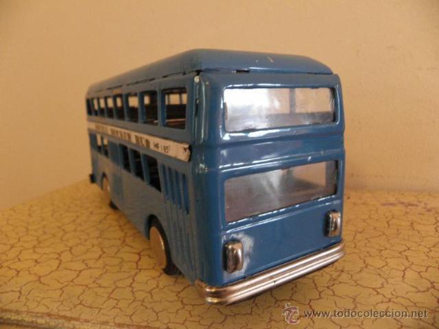 Juguetes antiguos de hojalata: Autobus de hojalata - Double decker bus - MF185 - Foto 3 - 41380384