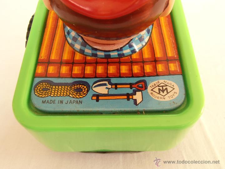 Juguetes antiguos de hojalata: COCHE JEEP VAQUERO A CUERDA MODERN TOYS MADE IN JAPAN AÑOS 70 - Foto 4 - 42417238