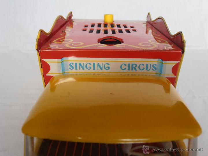 Juguetes antiguos de hojalata: CAMION SINGING CIRCUS TOMY MADE IN JAPAN AÑOS 70 - Foto 3 - 42762183