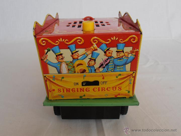 Juguetes antiguos de hojalata: CAMION SINGING CIRCUS TOMY MADE IN JAPAN AÑOS 70 - Foto 5 - 42762183