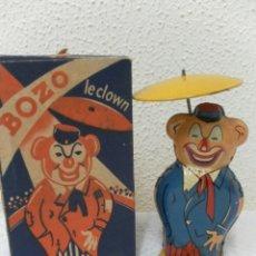 Juguetes antiguos de hojalata: BOZO LE CLOWN. FABRICADO EN FRANCIA POR JOUSTRA.. Lote 42853045