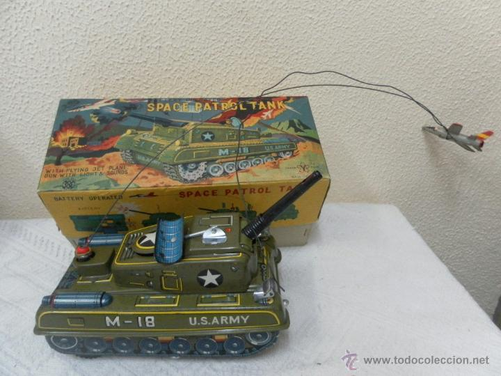 JAPAN. TANQUE. SPACE PATROL TANK. U.S. ARMY M-18. JUGUETE FABRICADO EN JAPÓN. (Juguetes - Juguetes Antiguos de Hojalata Extranjeros)