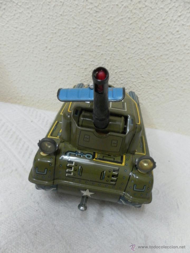 Juguetes antiguos de hojalata: Japan. Tanque. Space Patrol Tank. U.S. Army M-18. Juguete fabricado en Japón. - Foto 3 - 42853986