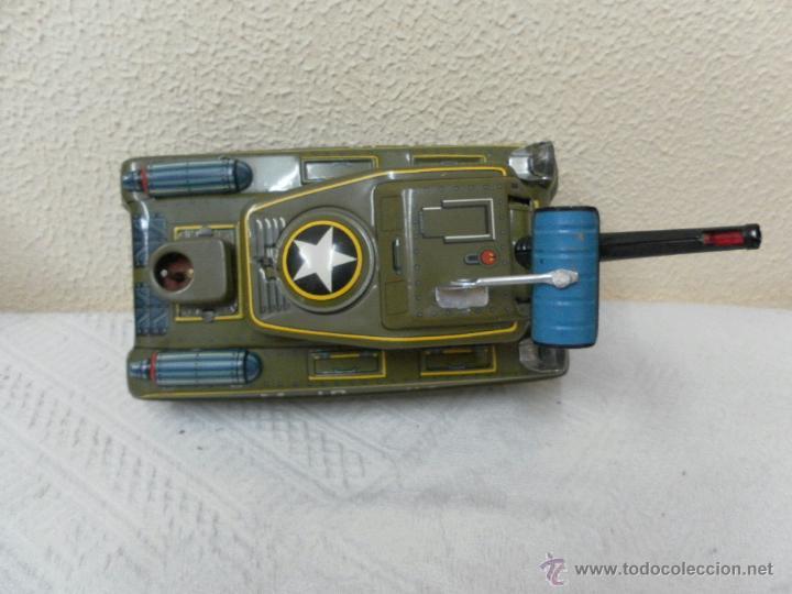 Juguetes antiguos de hojalata: Japan. Tanque. Space Patrol Tank. U.S. Army M-18. Juguete fabricado en Japón. - Foto 5 - 42853986