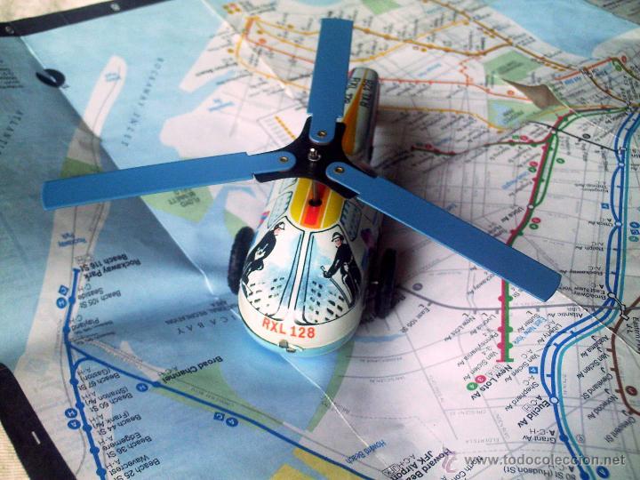 Juguetes antiguos de hojalata: Helicoptero - Foto 3 - 26573889