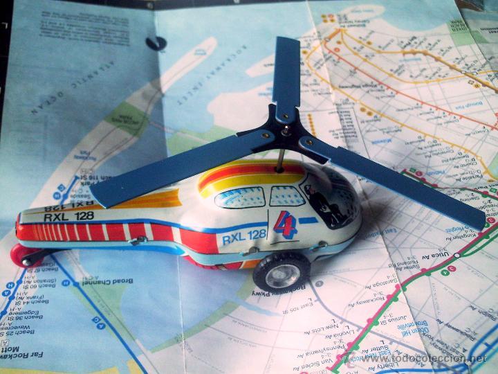Juguetes antiguos de hojalata: Helicoptero - Foto 6 - 26573889