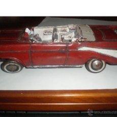 Juguetes antiguos de hojalata: 1957 ANTIGUO COCHE DE CHAPA. CHEVROLET DESCAPOTABLE. Lote 43105346