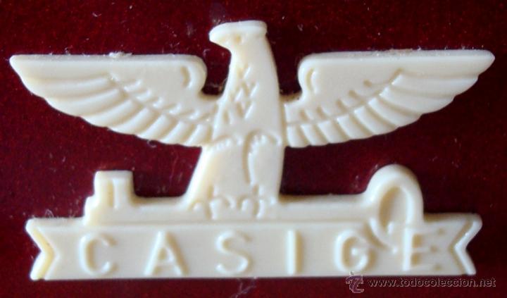 Juguetes antiguos de hojalata: ANTIGUA MÁQUINA DE COSER EN METAL MARCA CASIGE ALEMANA - Foto 11 - 43748111
