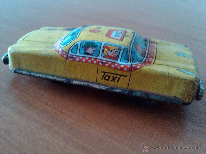 Juguetes antiguos de hojalata: ANTIGUO TAXI AUTOMOBIL COCHE HOJALATA 9 X 4 X2 CM METAL JAPAN - Foto 4 - 43817121
