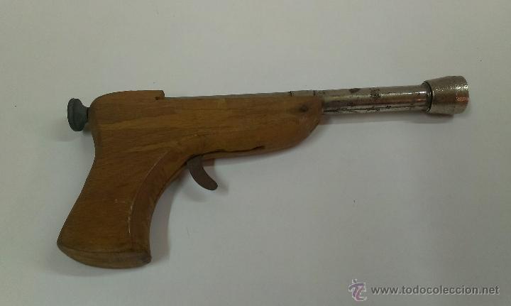 En Pistola Juguete Hojalata Y De Bonita Madera E9D2WHIY