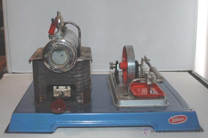 Juguetes antiguos de hojalata: PLANTA VAPOR VIVO. WILESCO D8. STACIONARY ENGINE. - Foto 2 - 43998093