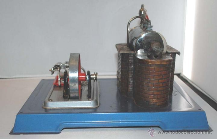 Juguetes antiguos de hojalata: PLANTA VAPOR VIVO. WILESCO D8. STACIONARY ENGINE. - Foto 3 - 43998093