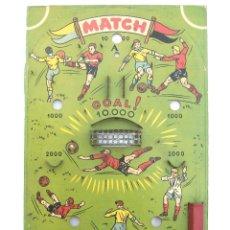 Juguetes antiguos de hojalata: JUEGO DE BOLAS PINBALL FUTBOL MATCH. HOJALATA Y MADERA AÑOS 50. Lote 44770977