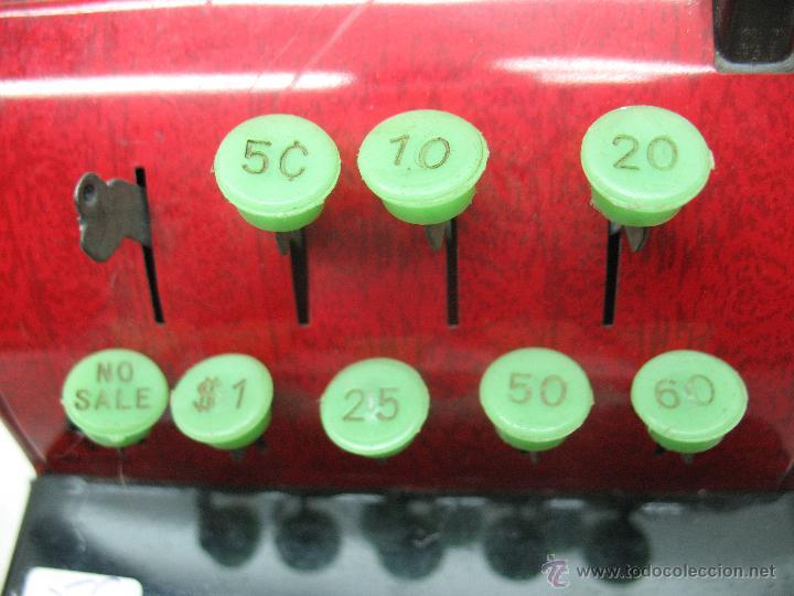 Juguetes antiguos de hojalata: Aster - Caja registradora fabricada en Japón - Foto 4 - 44877983