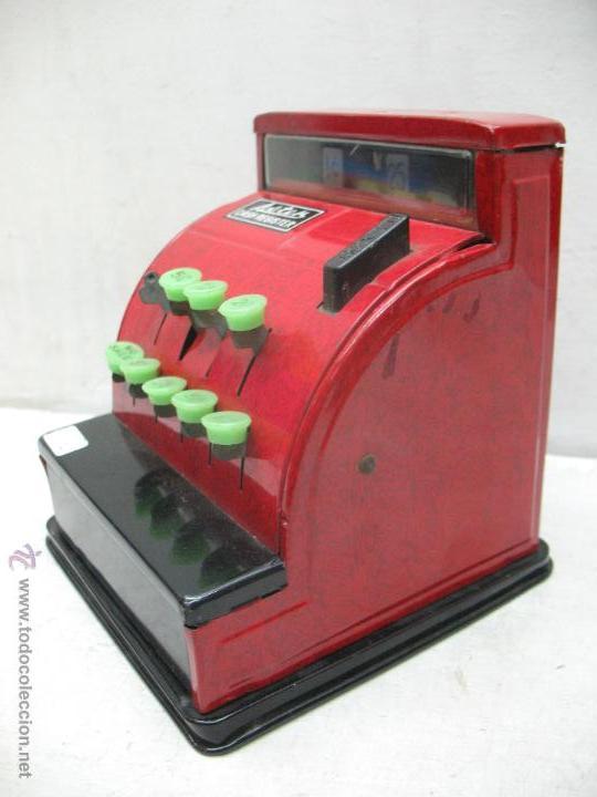 Juguetes antiguos de hojalata: Aster - Caja registradora fabricada en Japón - Foto 6 - 44877983