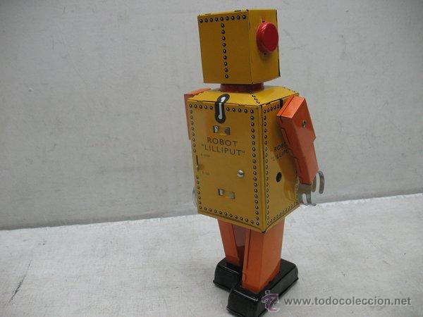 Juguetes antiguos de hojalata: Liliput - Robot de hojalata con mecanismo a cuerda N.P 5357 - Foto 5 - 44879744