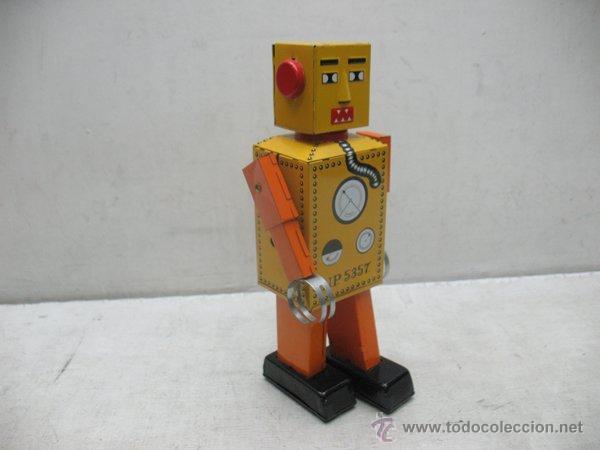 Juguetes antiguos de hojalata: Liliput - Robot de hojalata con mecanismo a cuerda N.P 5357 - Foto 6 - 44879744